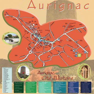 Réalisation d'un plan de ville touristique et informatif implanté à divers lieu dans la ville